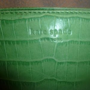 Kate Spade  Lime Green Crocodile Embossed Leather